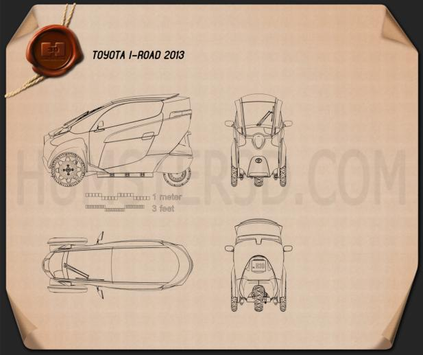 Toyota i-Road 2013 Blueprint
