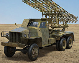 BM-13N Katyusha 3D model