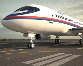 Sukhoi Superjet 100 3D model