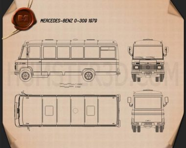 Mercedes-Benz O-309 1979 Blueprint