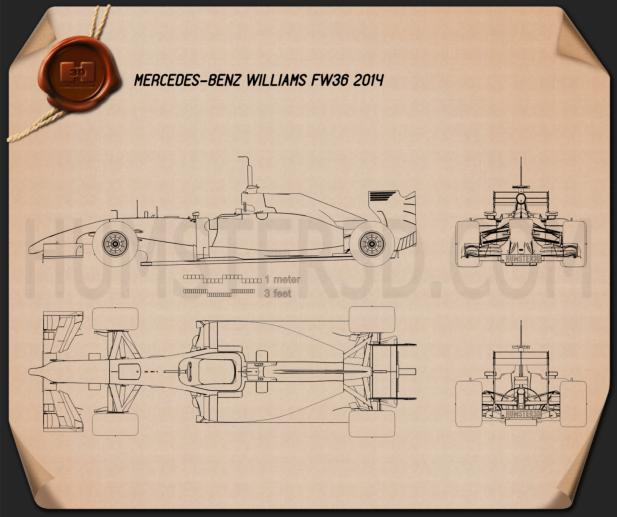 Williams FW36 2014 Blueprint