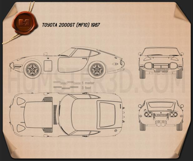 Toyota 2000GT 1967 Blueprint