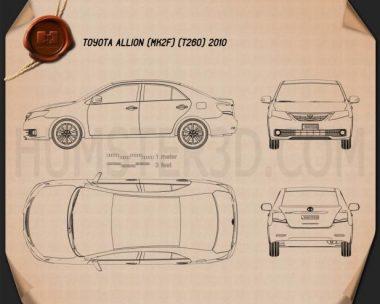 Toyota Allion (T260) 2010 Blueprint