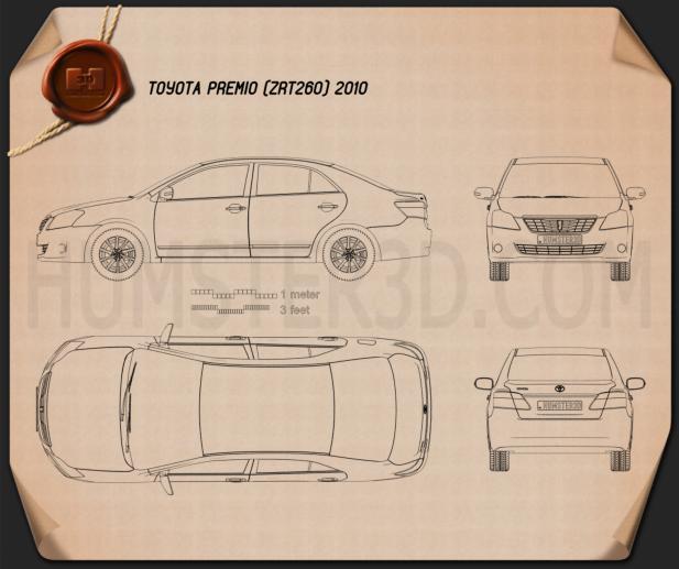 Toyota Premio 2010 Blueprint