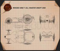 Mercedes-Benz F-Cell Roadster 2009 Blueprint