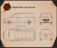 Mercedes-Benz V-Class 2014 Blueprint