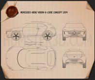Mercedes-Benz Vision G-Code 2014 Blueprint