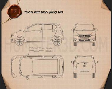 Toyota Pixis Epoch 2013 Blueprint