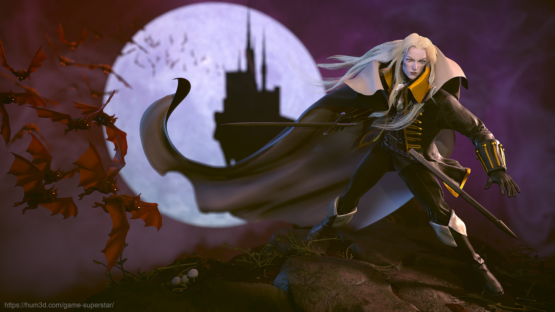 castlevania symphony of the night alucard 3d artist train clip art image train clip art image