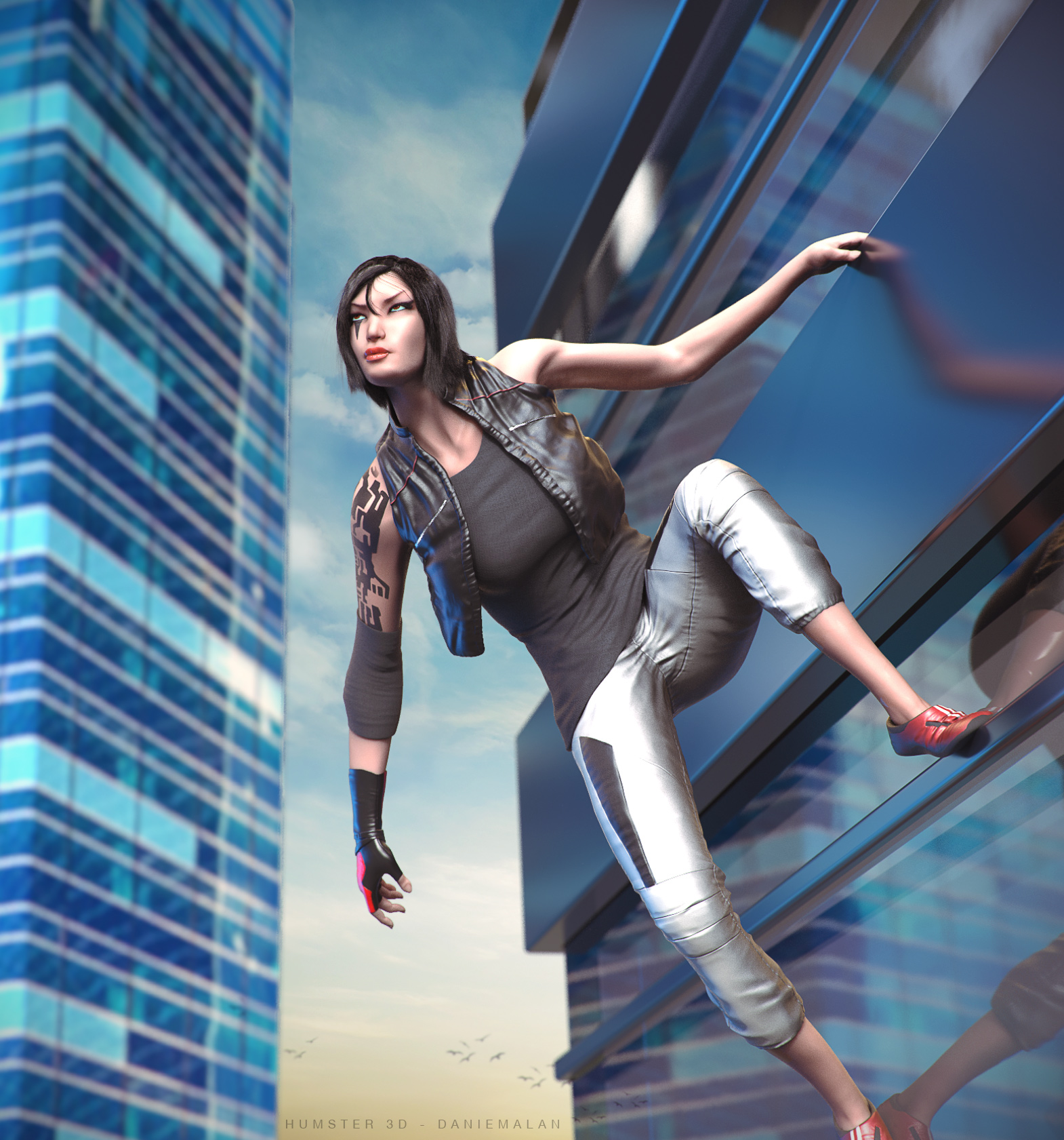 Faith - Mirror's Edge 3d art