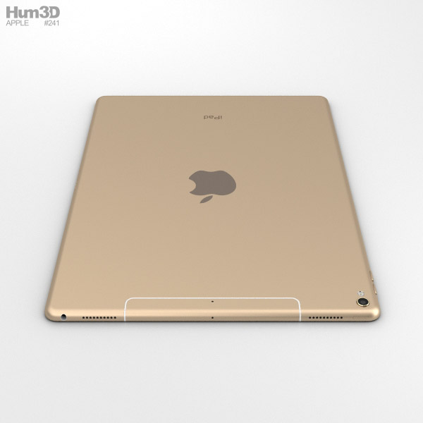 apple ipad pro 12 9 inch 2017 cellular gold 3d model hum3d. Black Bedroom Furniture Sets. Home Design Ideas