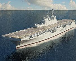 USS America (LHA-6) aircraft carrier 3D model