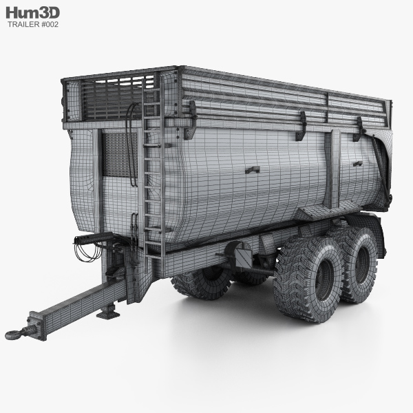Krampe Big Body 650 Carrier Farm Trailer 2017 3D model