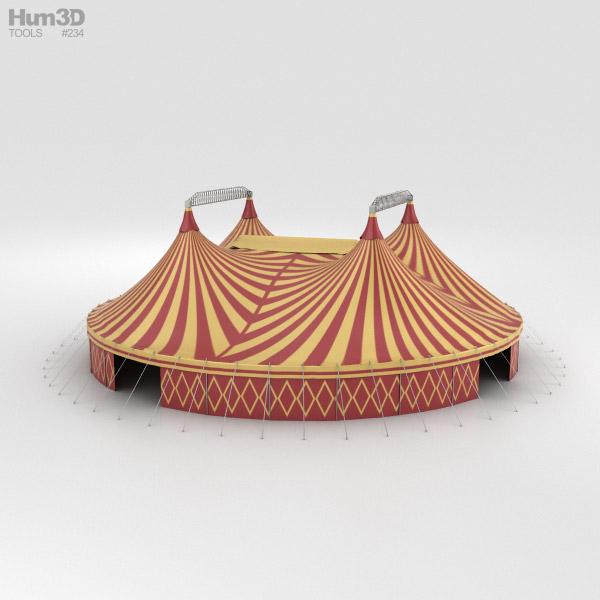 Circus Tent 3d model ... & Circus Tent 3D model - Hum3D
