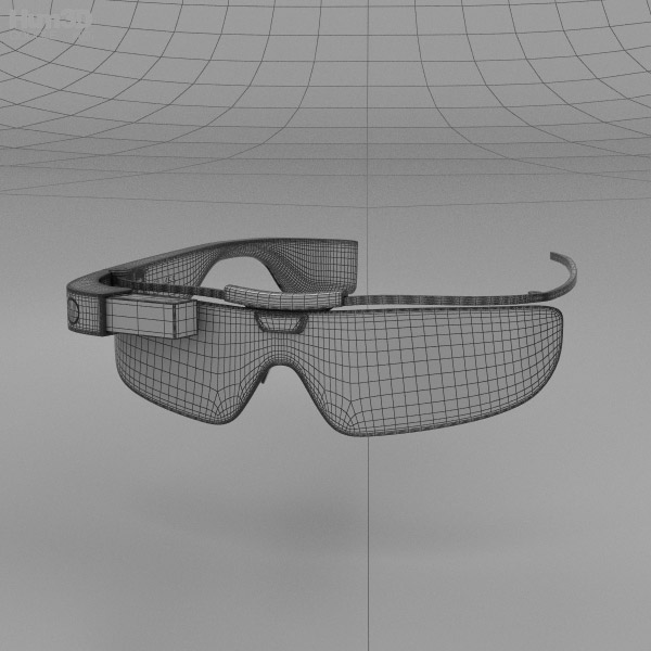 Google Glass Enterprise Edition White 3d Model Hum3d