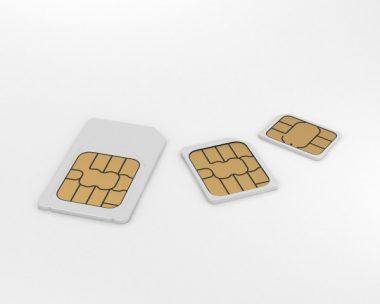 3D model of Sim Cards Set