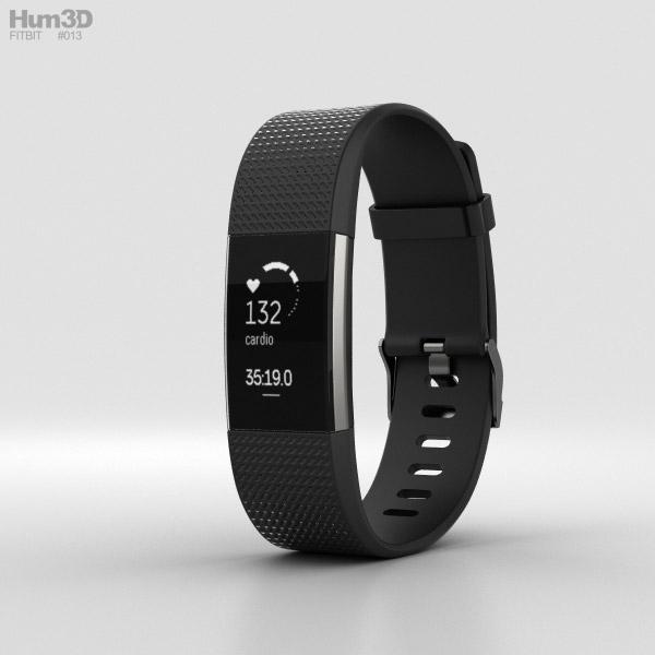Fitbit Charge 2 Black 3d Model Hum3d