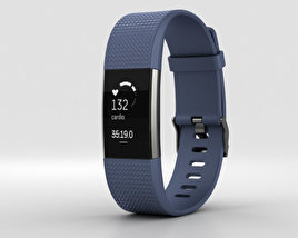 Fitbit Charge 2 Blue 3D model