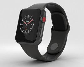 Apple Watch Edition Series 3 38mm GPS Gray Ceramic Case Gray/Black Sport Band 3D model