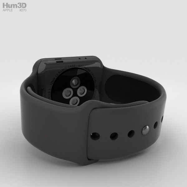 Apple Watch Edition Series 3 42mm GPS Gray Ceramic Case ...