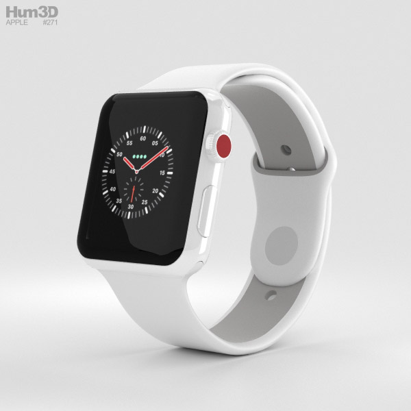 Apple Watch Edition Series 3 42mm GPS White Ceramic Case ...