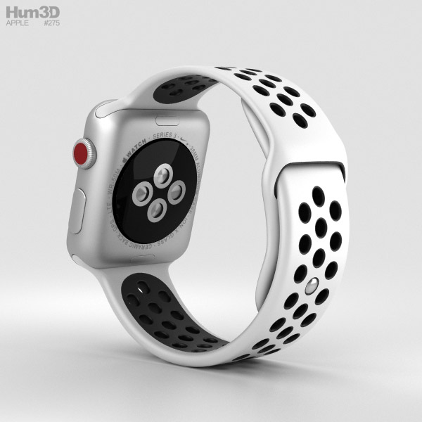f7c12c932 ... Apple Watch Series 3 Nike+ 38mm GPS Silver Aluminum Case Pure Platinum Black  Sport Band ...
