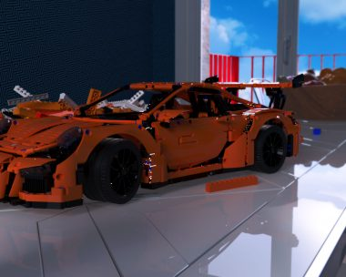 Porsche 911 GT3 RS lego race car