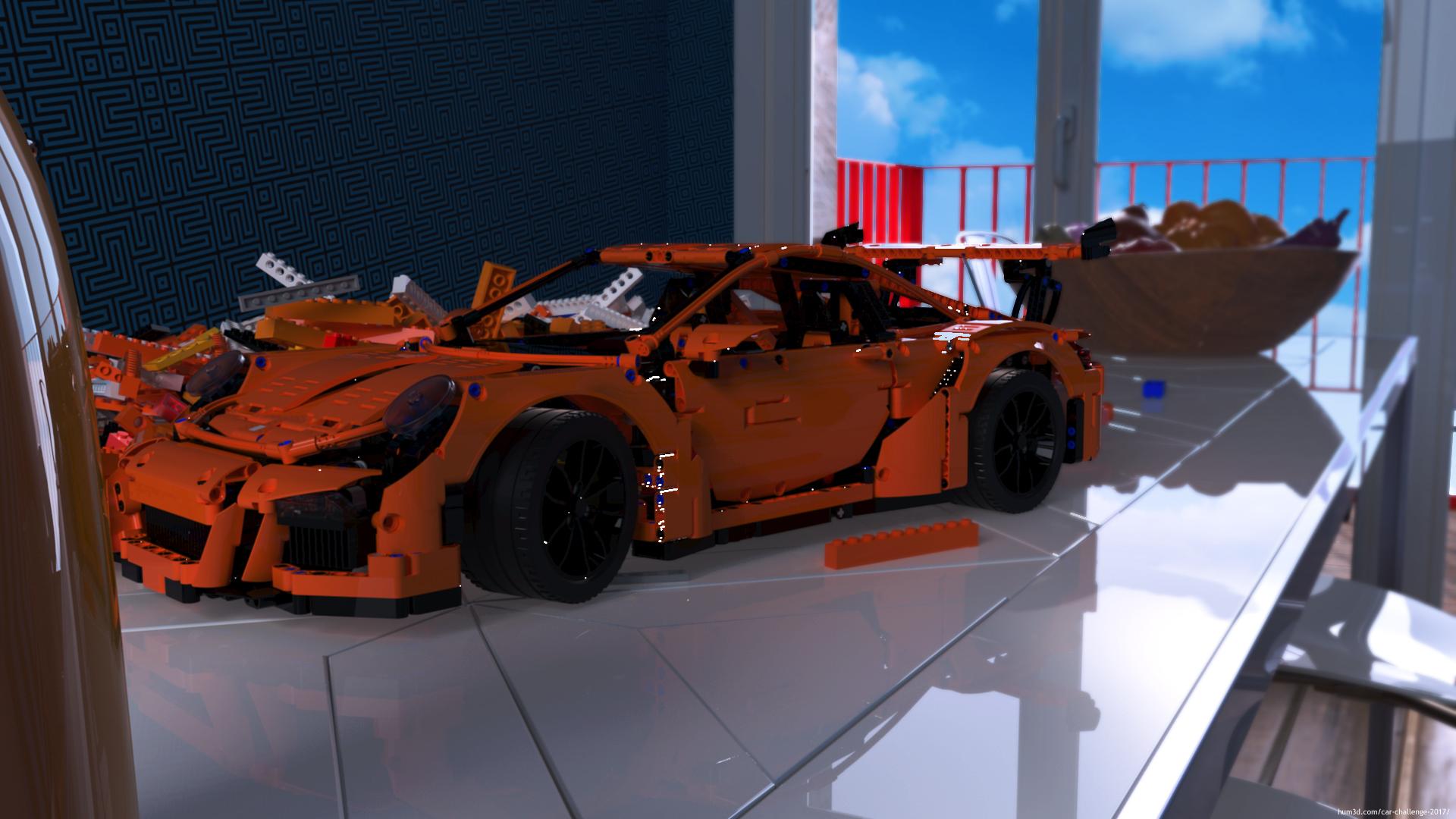 Porsche 911 GT3 RS Lego Race Car