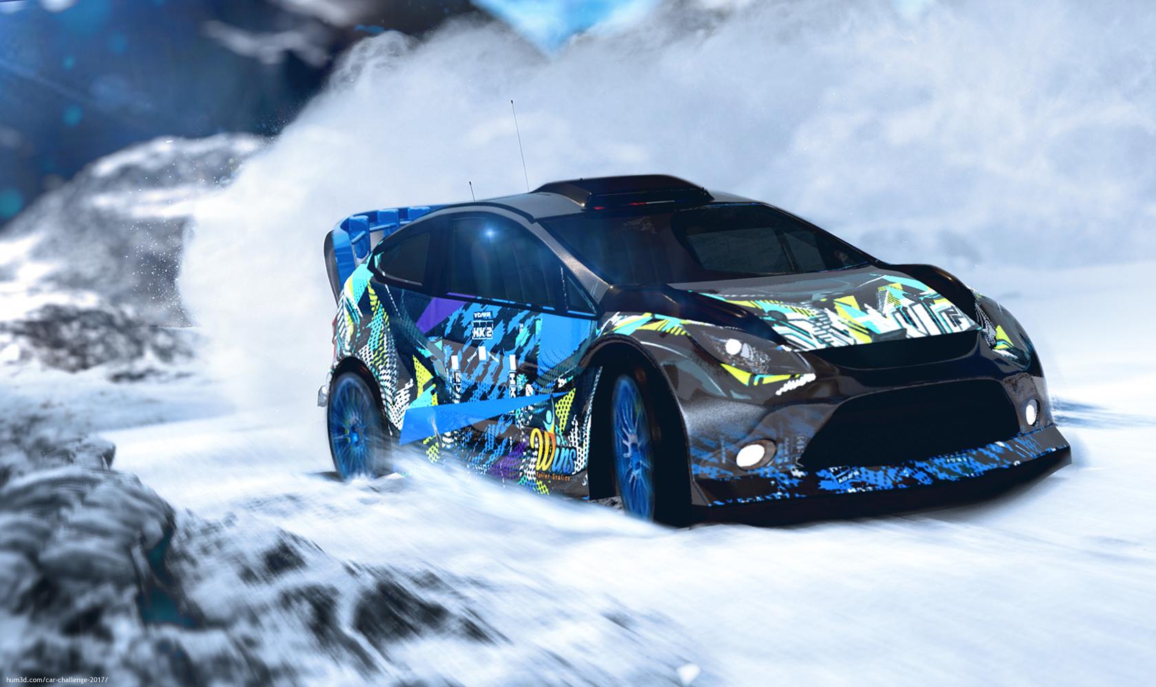 Snow Rally 3d art