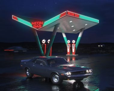 Neon Gas Station