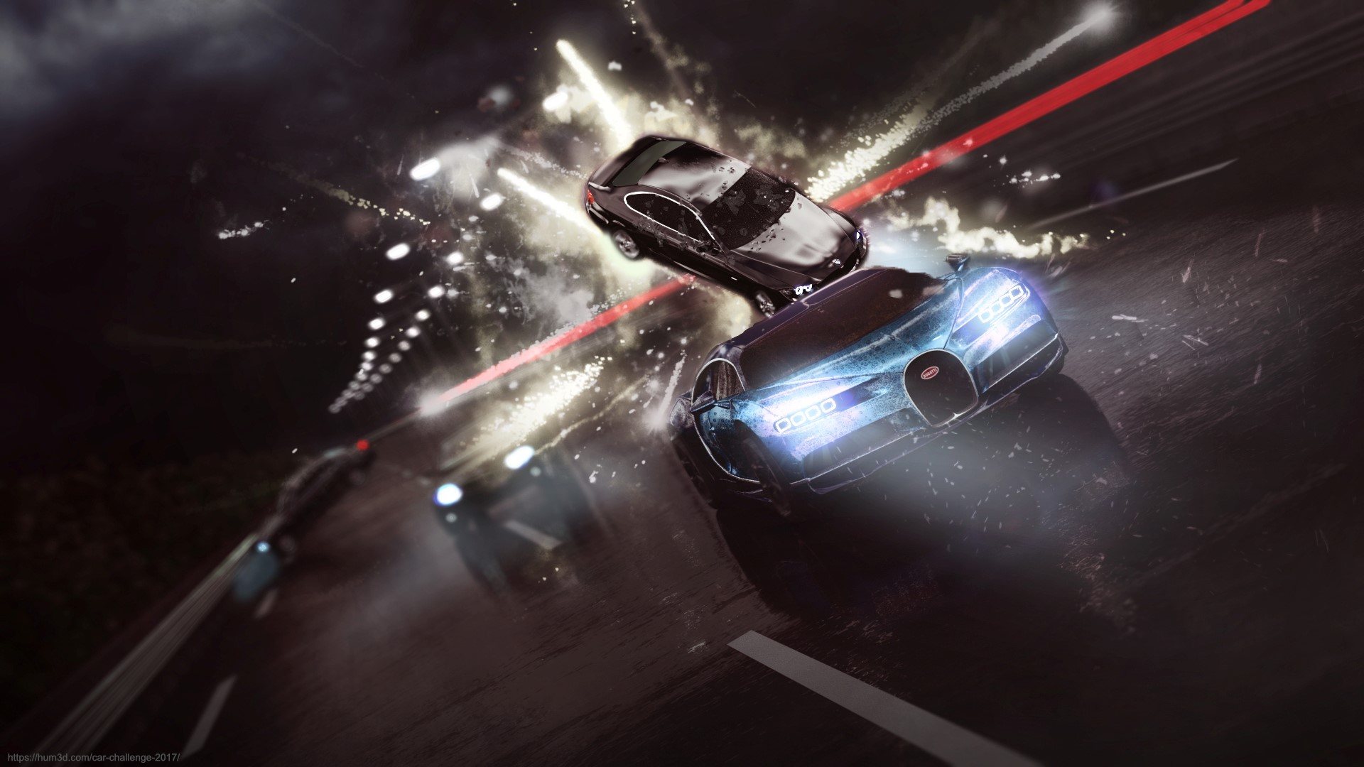 Bugatti Chiron 3d art