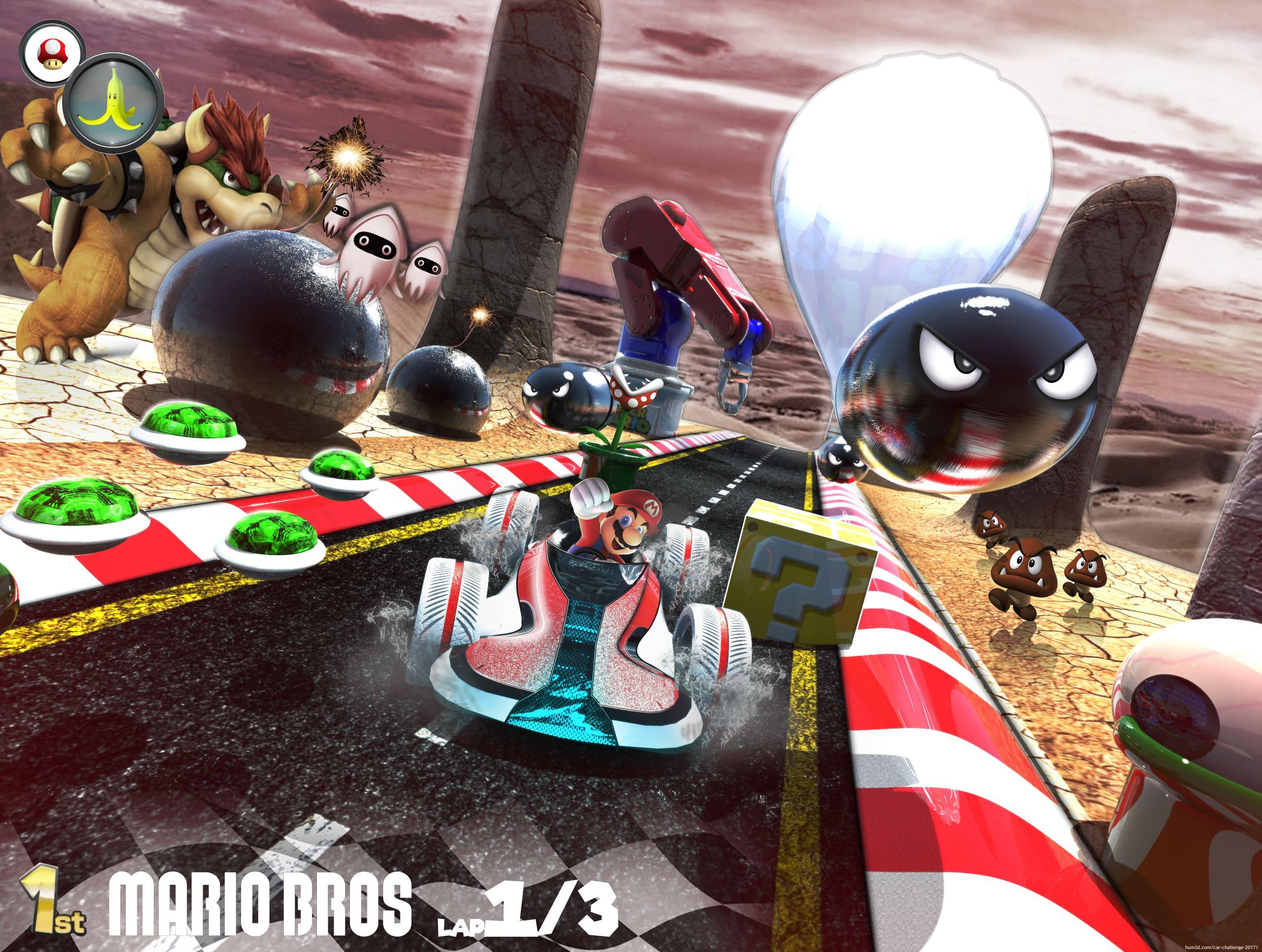 Super Mario Kart concept 3d art