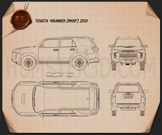 Toyota 4Runner 2013 Blueprint