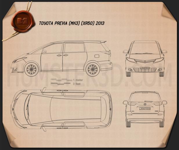 Toyota Previa 2013 Blueprint
