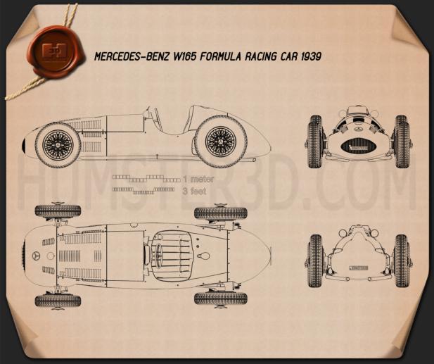 Mercedes-Benz W165 1939 Blueprint