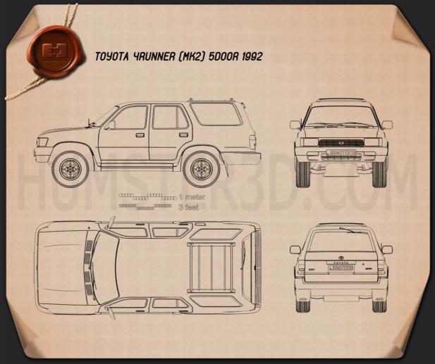 Toyota 4Runner 1992 Blueprint
