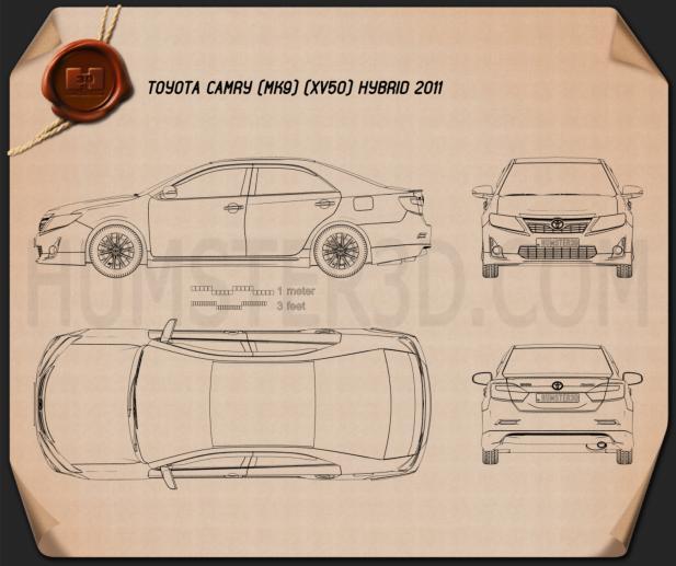 Toyota Camry Hybrid 2011 Blueprint