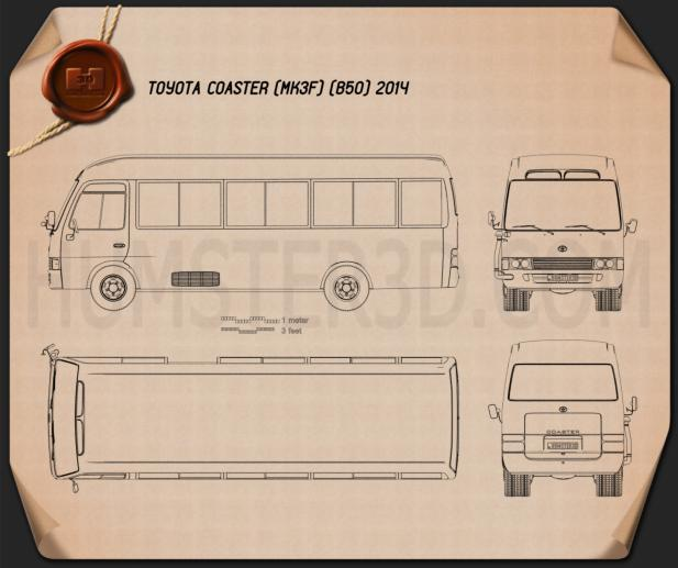Toyota Coaster 2014 Blueprint