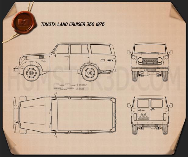 Toyota Land Cruiser (J55) 1975 Blueprint