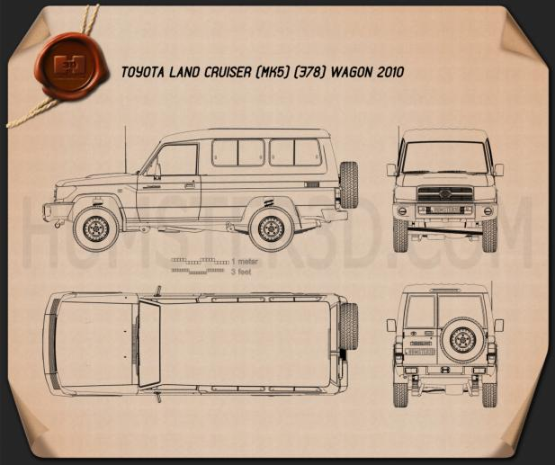 Toyota Land Cruiser (J78) 2010 Blueprint