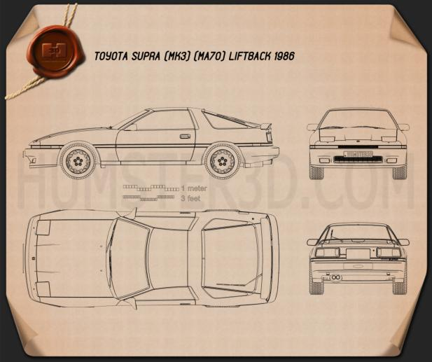 Toyota Supra 1986 Blueprint