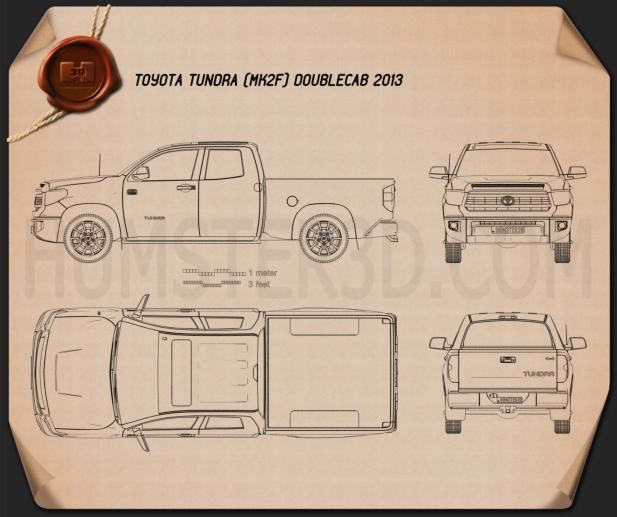 Toyota Tundra Double Cab 2013 Blueprint