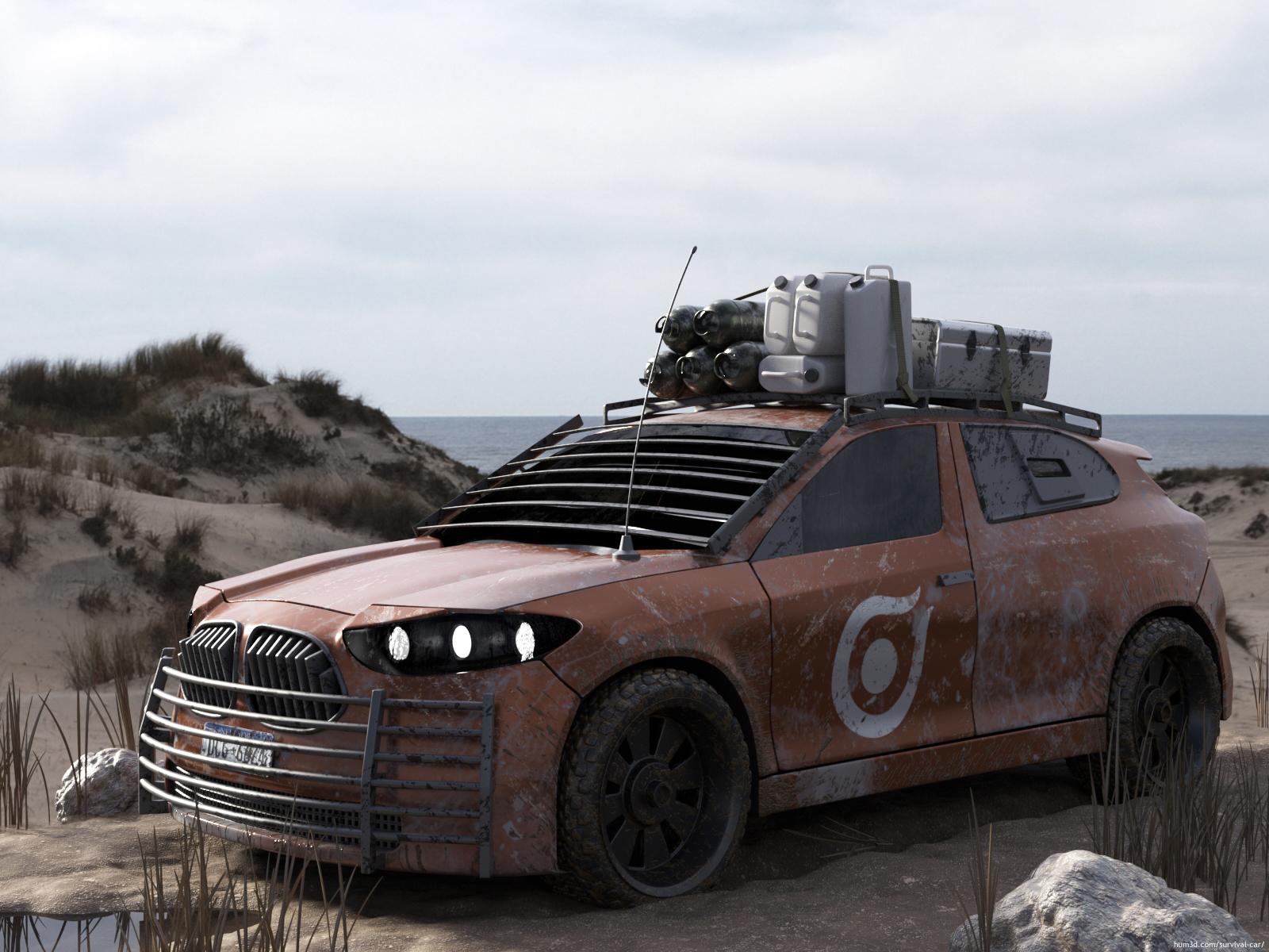 Survival Car 3d art