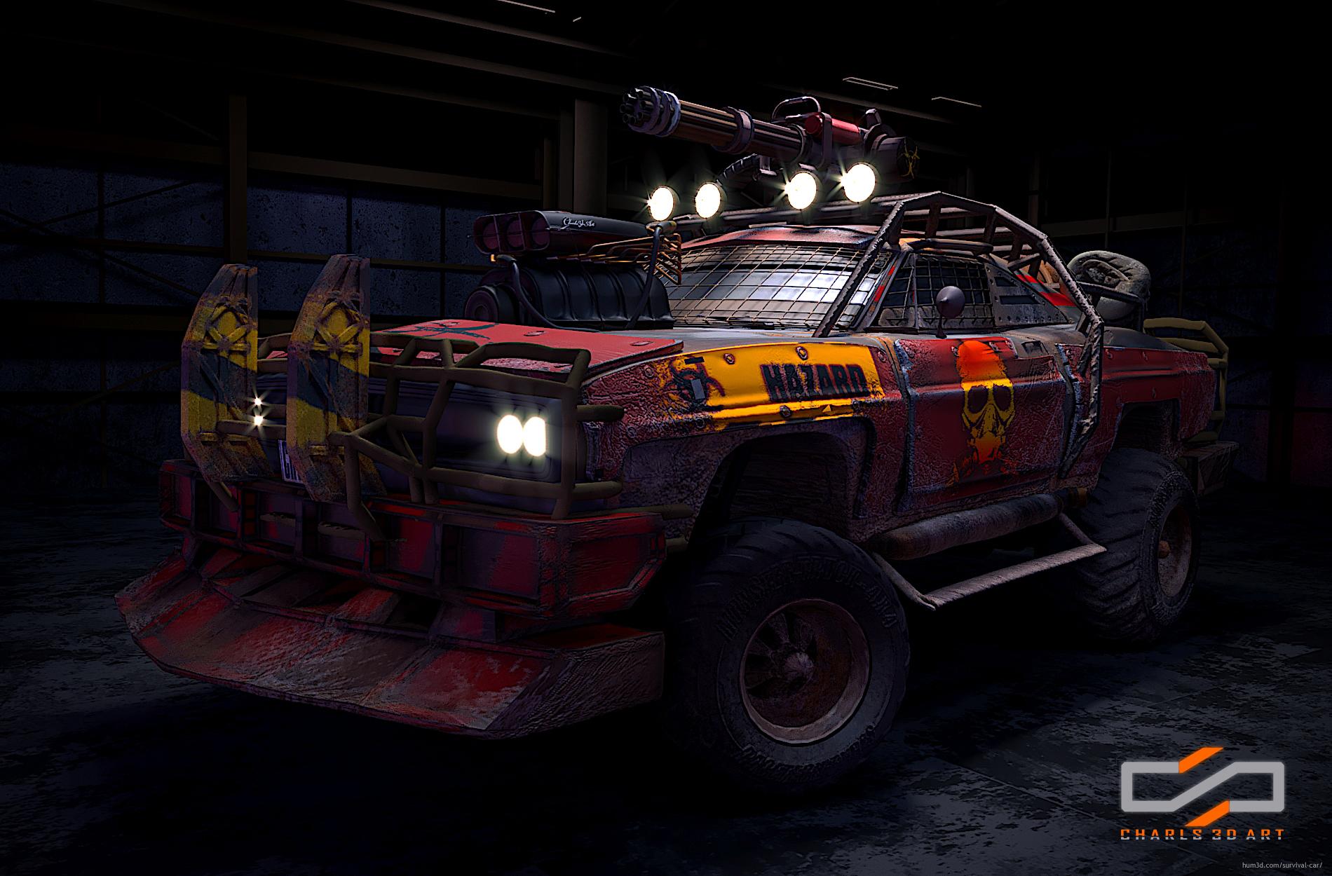 Dodge Red Beast 3d art