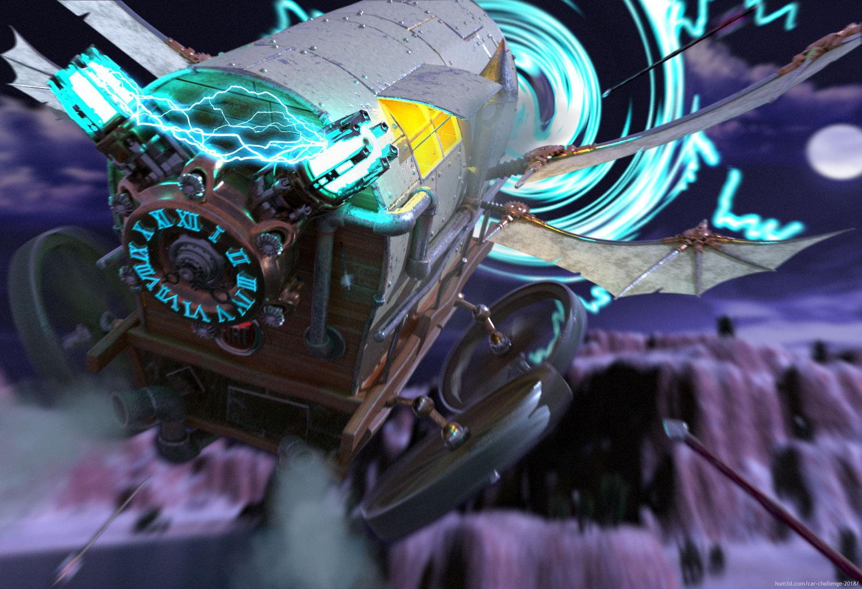 A caravan from the future? 3d art