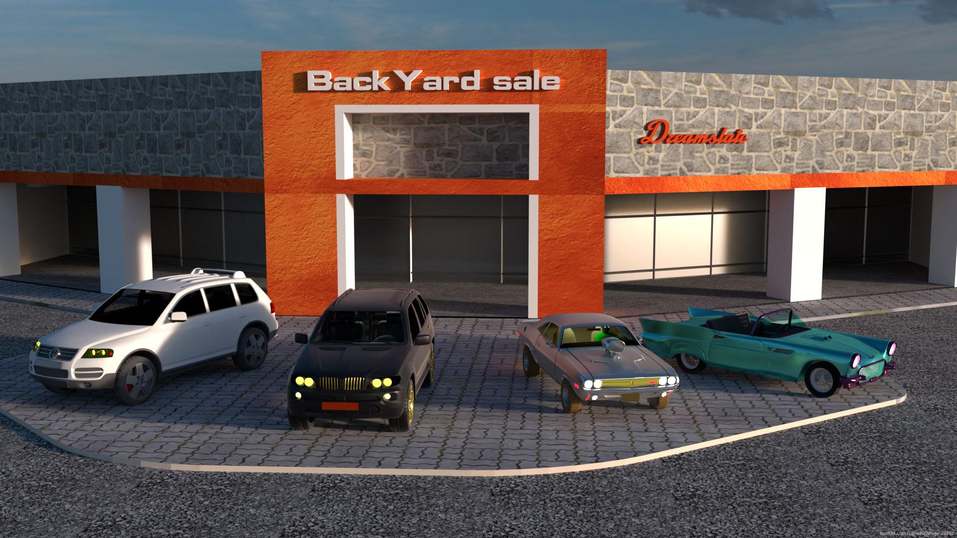 Rich man's yard sale 3d art