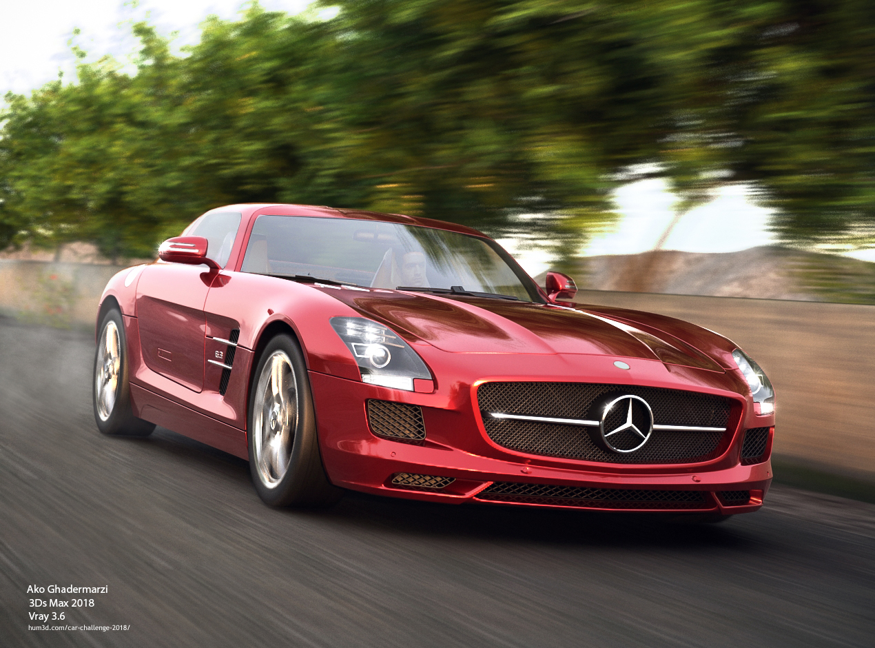Mercedes-Benz SLS 3d art