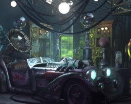 Fantasy Tesla Car