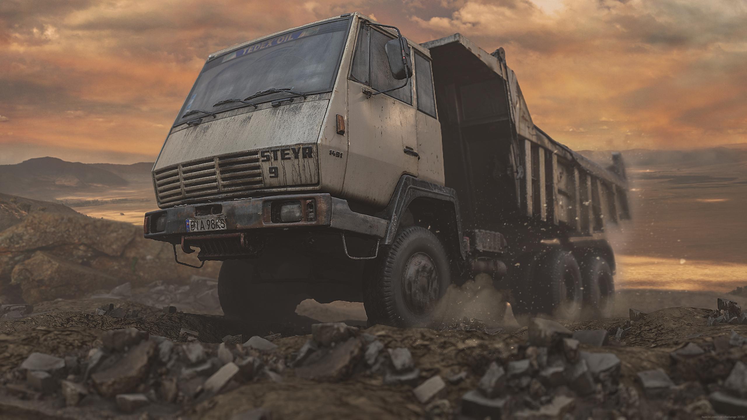 Old Dump Truck 3d art