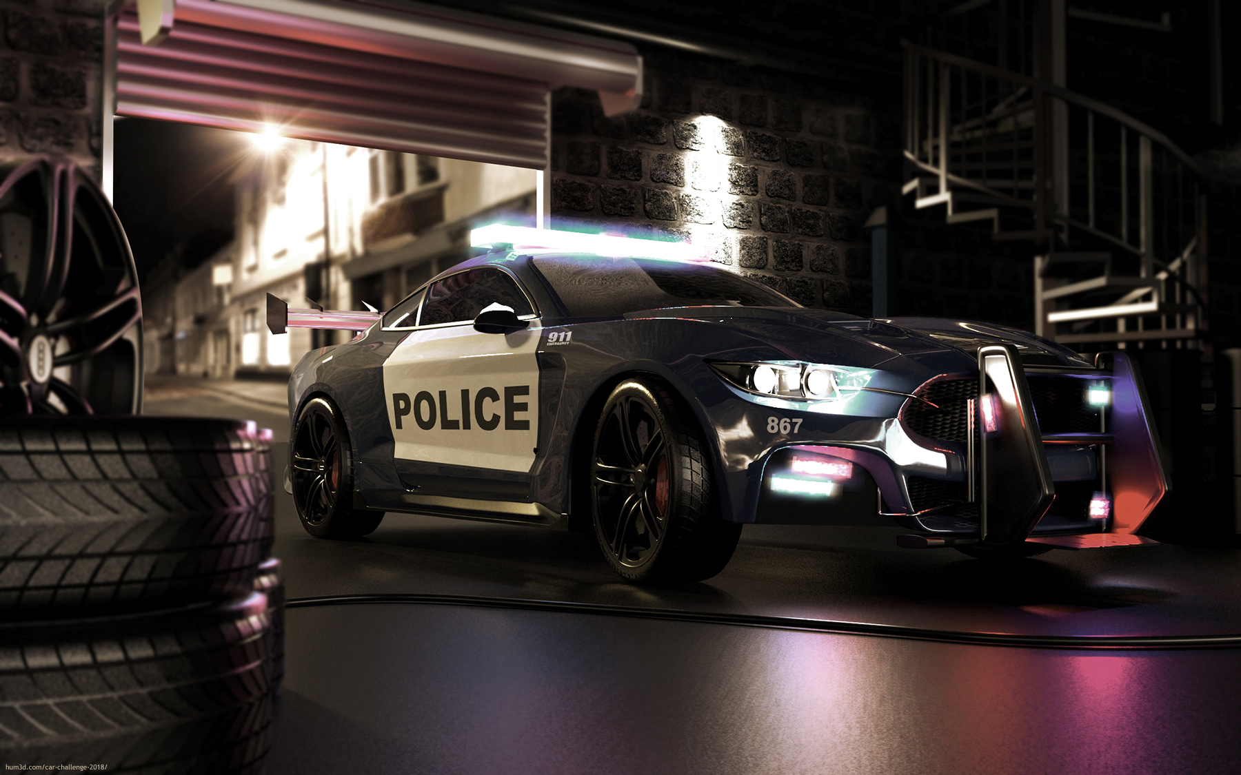 Car Police 3d art